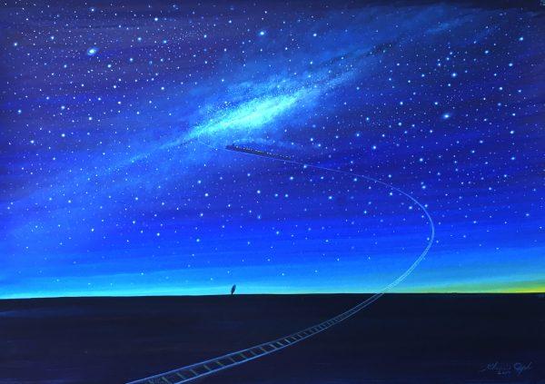 葉祥明/水彩画/2017/「銀河鉄道の夜」